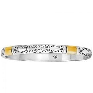 Brighton Silver Multi Tone Scroll Bangle Bracelet